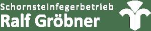 weißes Logo Schornsteinfegerbetrieb Ralf Gröbner