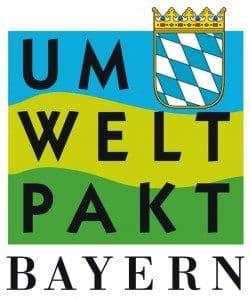Logo für den Umweltpakt Bayern welchen Schornsteinfeger Ralf Gröbner mit angehört